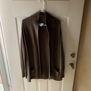 LOFT brown cardigan
